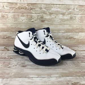 Nike Shox Elite Flight Mens 11 White Navy